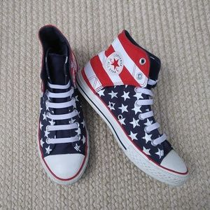 Converse All Star Chuck Taylor Flag High Tops Sz 5